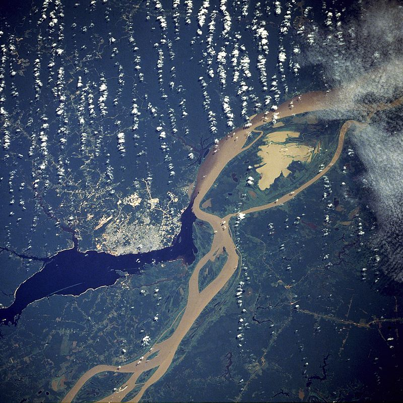 Soutok Amazonky a Rio Negro, NASA