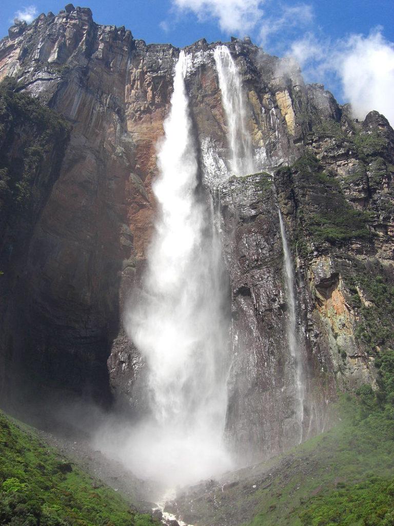 Vodopád Salto Ángel ve Venezuele